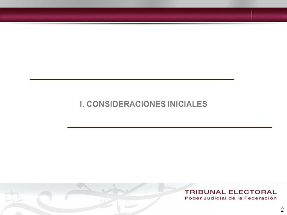 2 I. CONSIDERACIONES INICIALES