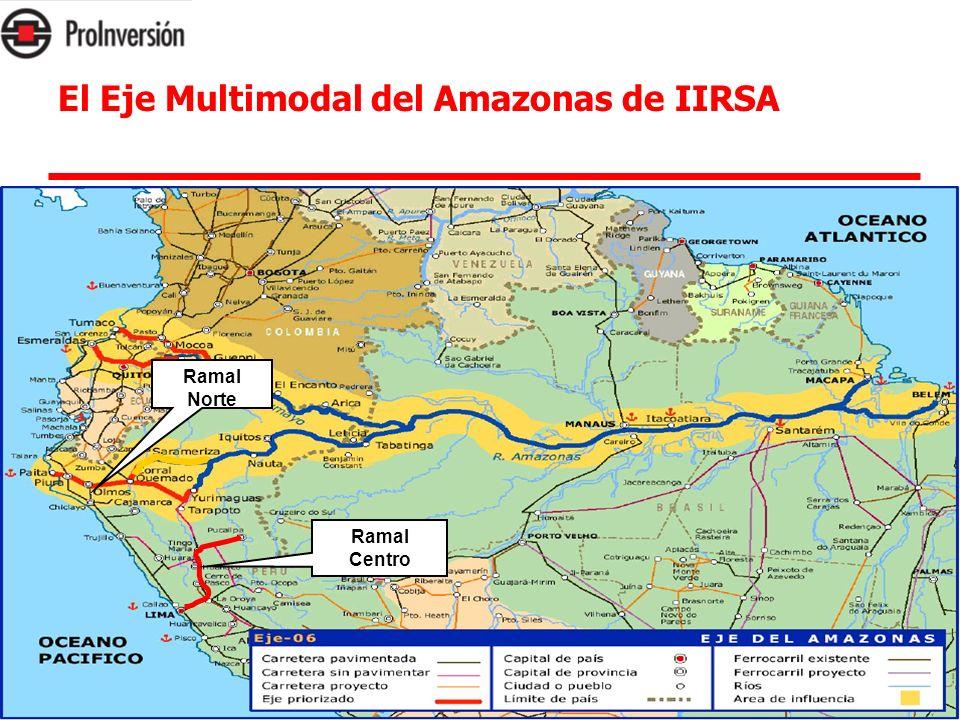 3. El Eje Multimodal del Amazonas de IIRSA Ramal Norte Ramal Centro