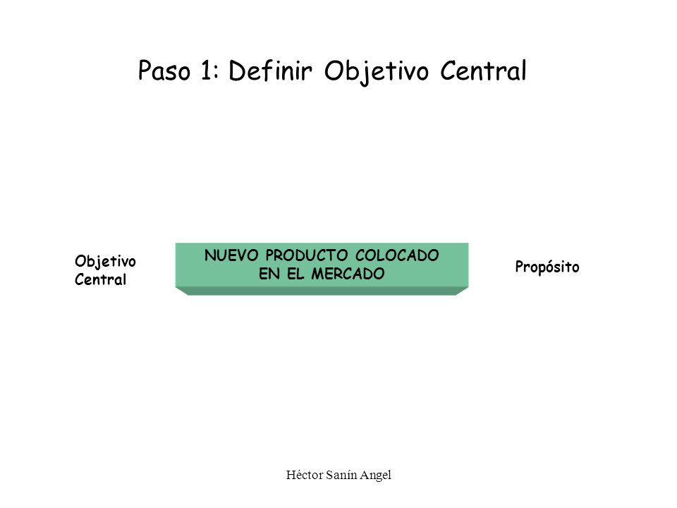 PASO 1 Definición del Objetivo Central