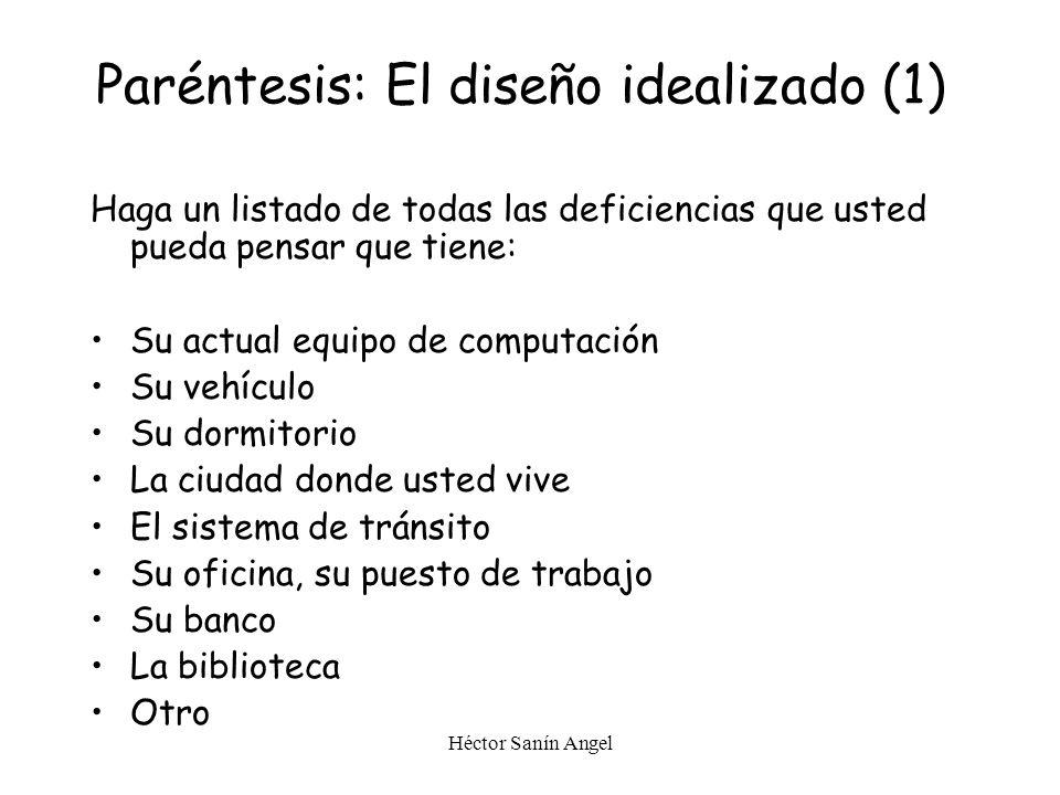 Héctor Sanín Angel () El diseño idealizado