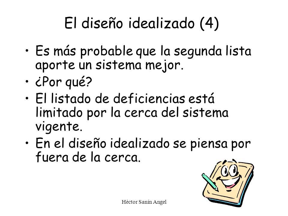 Héctor Sanín Angel Compare las dos listas: ¿Cuál proporcionaría un sistema mejor? El diseño idealizado (3)