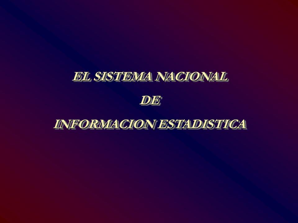 EL SISTEMA NACIONAL DE INFORMACION ESTADISTICA EL SISTEMA NACIONAL DE INFORMACION ESTADISTICA