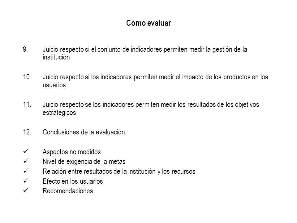 PLANIFICACIÓN ESTRATÉGICA Y CONSTRUCCIÓN DE INDICADORES EN EL SECTOR PÚBLICO DE COSTA RICAEvaluación Roberto Jiménez M.
