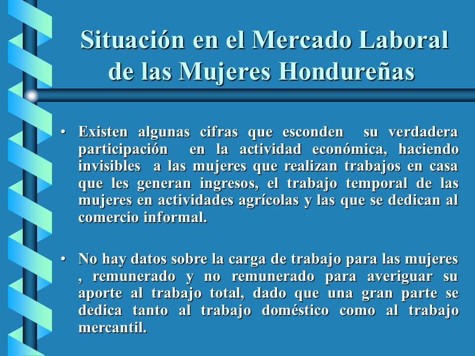 Situación en el Mercado Laboral de las Mujeres Hondureñas Situación en el Mercado Laboral de las Mujeres Hondureñas Existen algunas cifras que esconde