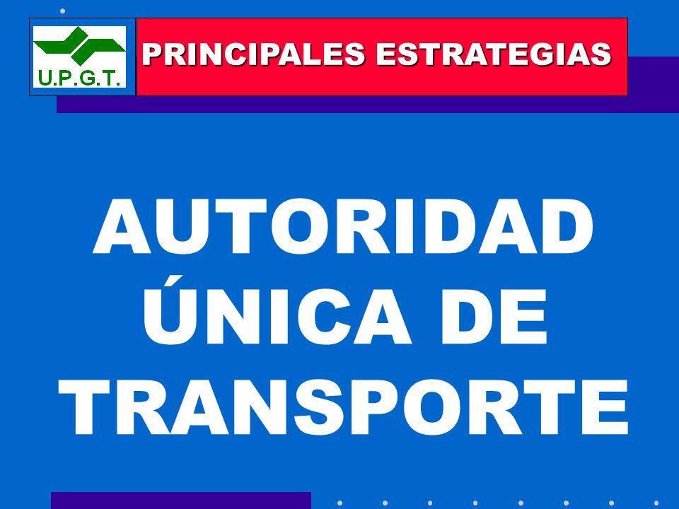 AUTORIDAD ÚNICA DE TRANSPORTE PRINCIPALES ESTRATEGIAS