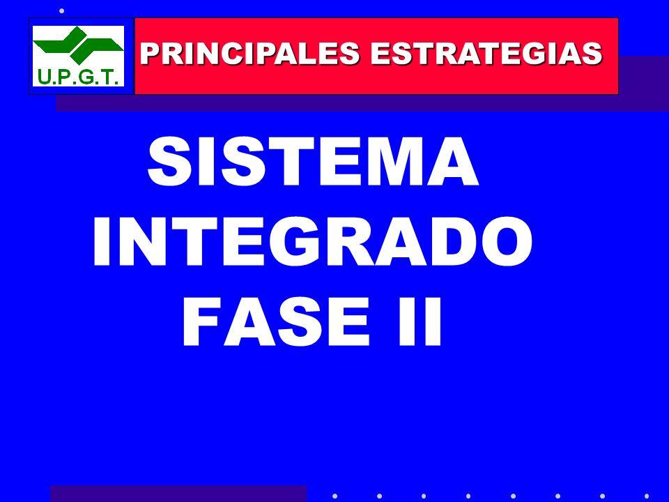 SISTEMA INTEGRADO FASE II PRINCIPALES ESTRATEGIAS