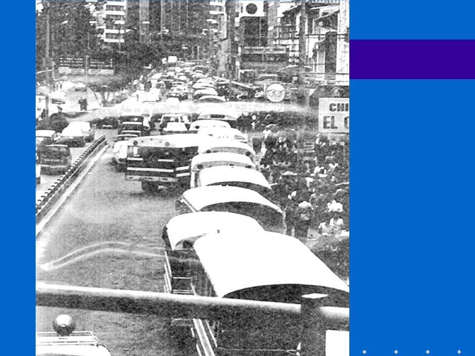 CONVOYES DEMANDA TRANSPORTADA TRAMO CENTRAL (54 TROLEBUSES + 70 BUSES ALIMENTADORES) 11.2 km 180 000 PASAJEROS/DÍA EXTENSION SUR.