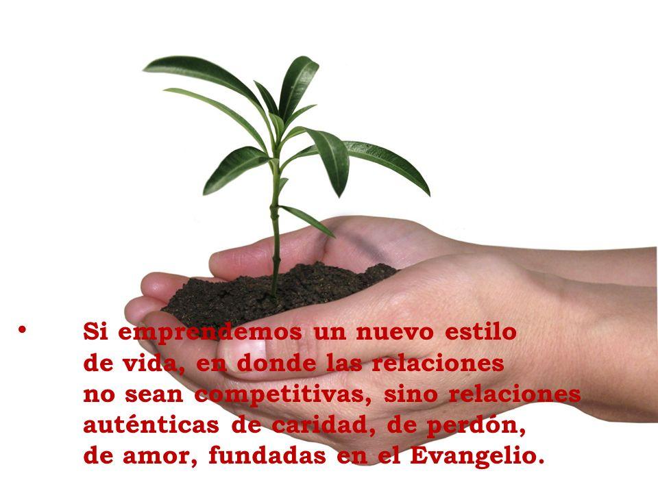 Si emprendemos un nuevo estilo de vida, en donde las relaciones no sean competitivas, sino relaciones auténticas de caridad, de perdón, de amor, funda