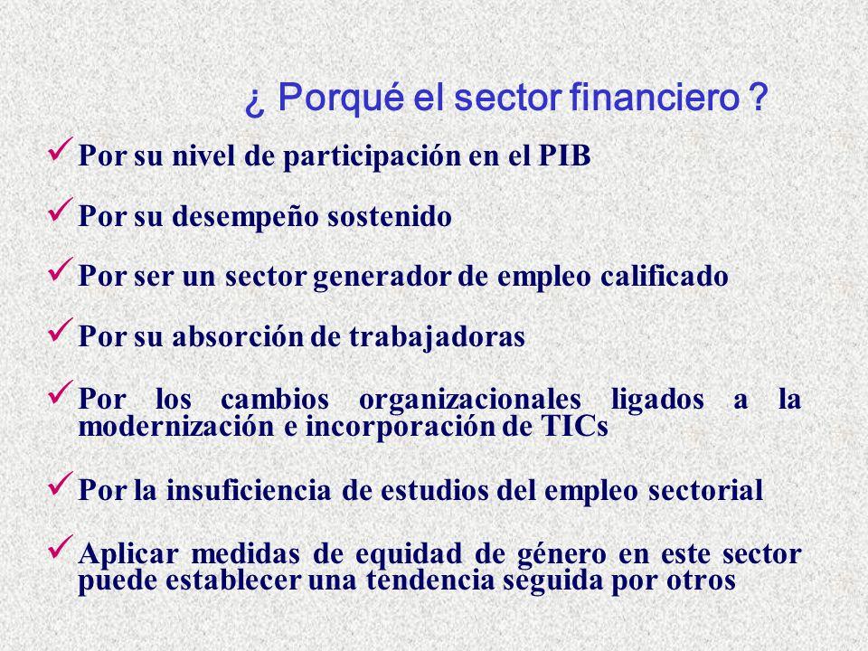 ¿ Porqué el sector financiero .