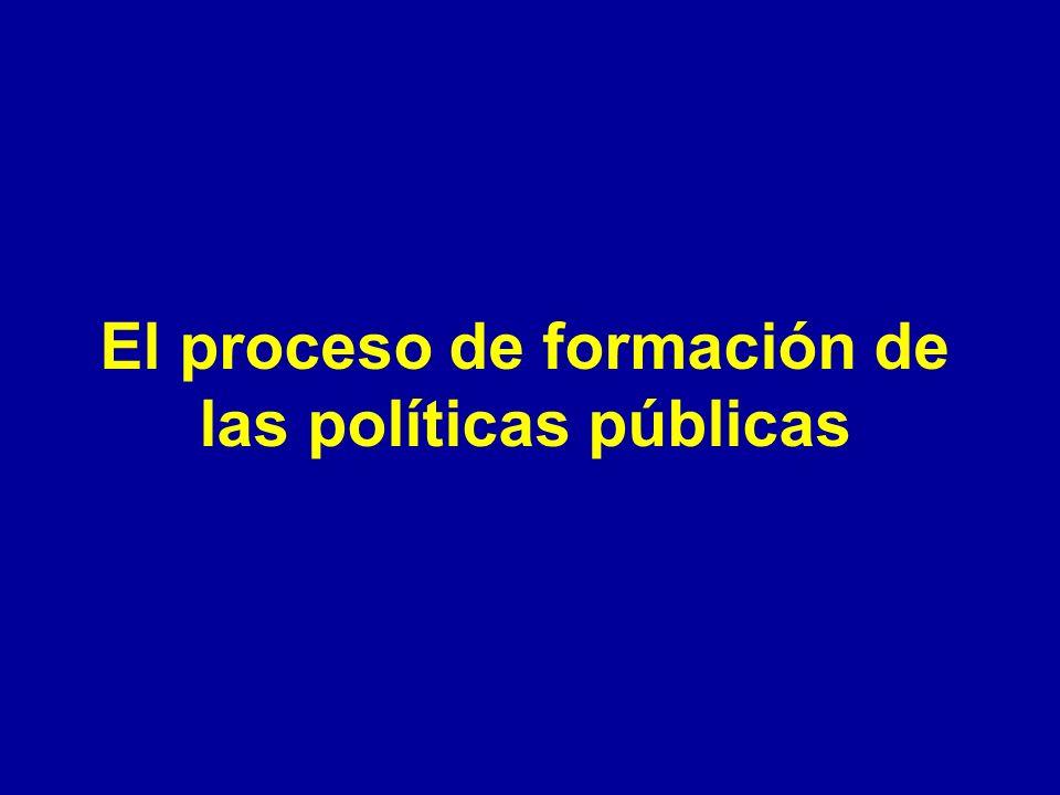 El proceso de formación de las políticas públicas
