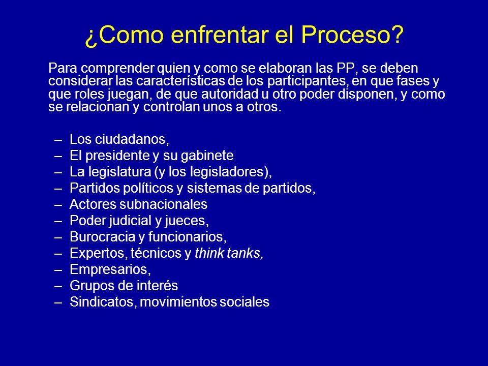 ¿Como enfrentar el Proceso? Para comprender quien y como se elaboran las PP, se deben considerar las características de los participantes, en que fase