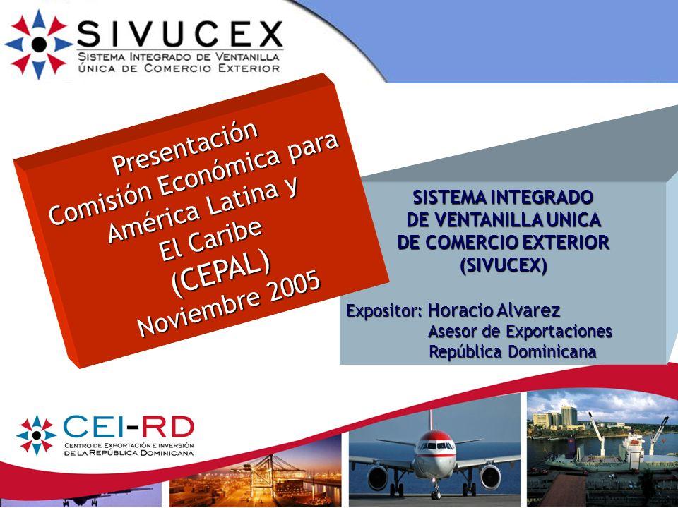 11 Proceso de Exportación a través del SIVUCEX (Cont...) Paso 2 Llenado del Formulario Único de Exportación.