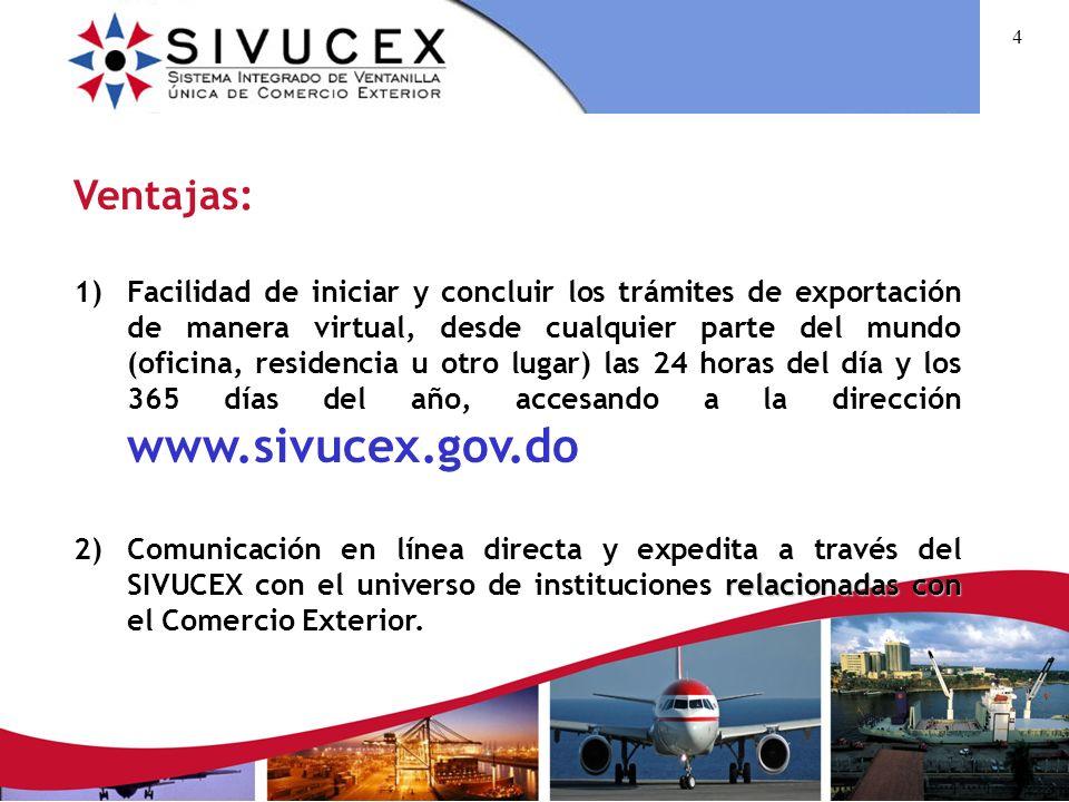 3 Qué es el SIVUCEX? Es un procedimiento automatizado para manejar todos los trámites y servicios necesarios para el proceso de exportación, desde la