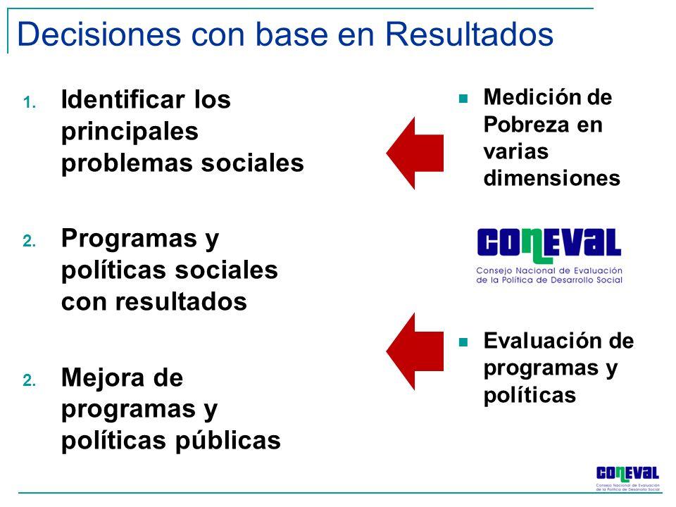 1. Identificar los principales problemas sociales 2.