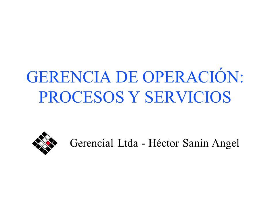 GERENCIA DE OPERACIÓN: PROCESOS Y SERVICIOS Gerencial Ltda - Héctor Sanín Angel