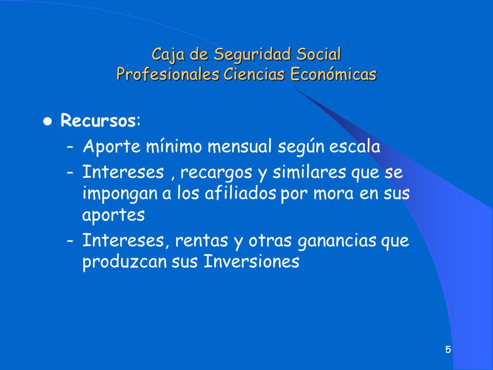 4 l Población Cubierta – Son afiliados obligatorios, todos los profesionales en Ciencias Económicas, matriculados en el Consejo Profesional de Ciencia