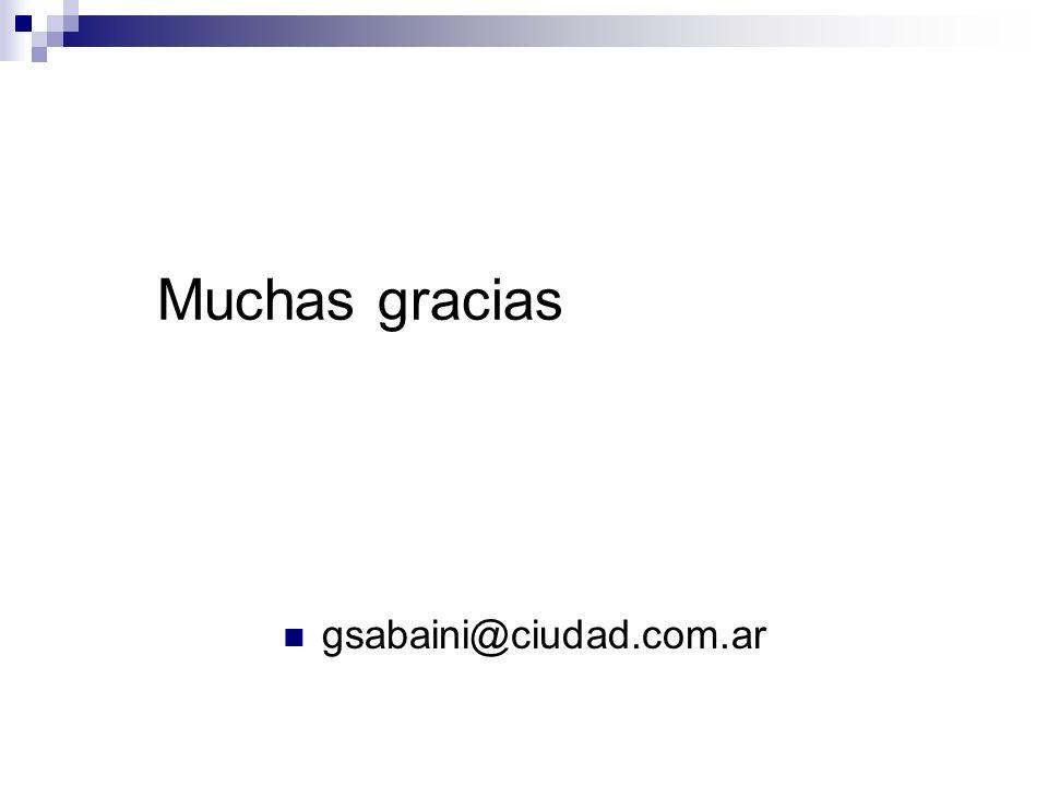 Muchas gracias gsabaini@ciudad.com.ar