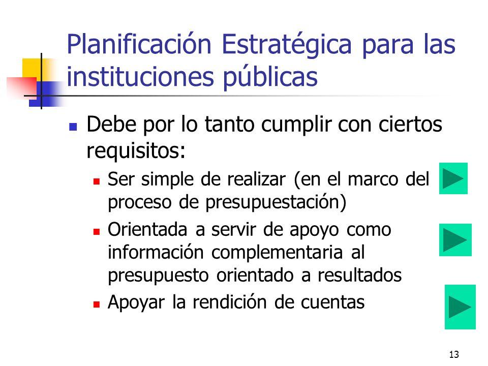 12 Metodología depende de los diferentes niveles de decisión gubernamental en que se aplica Planeación Nacional de Desarrollo –Lineamientos Estratégic