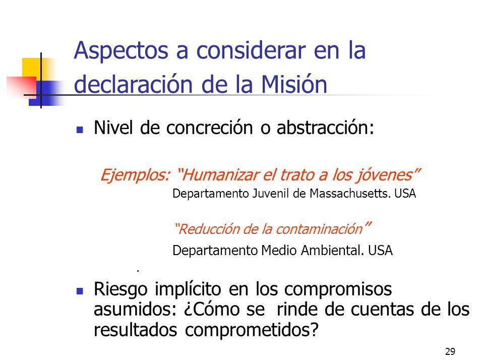 28 El valor de una organización no se limita al valor operativo de la MISION ACTUAL ¿Serán necesarias estas funciones y estos productos?