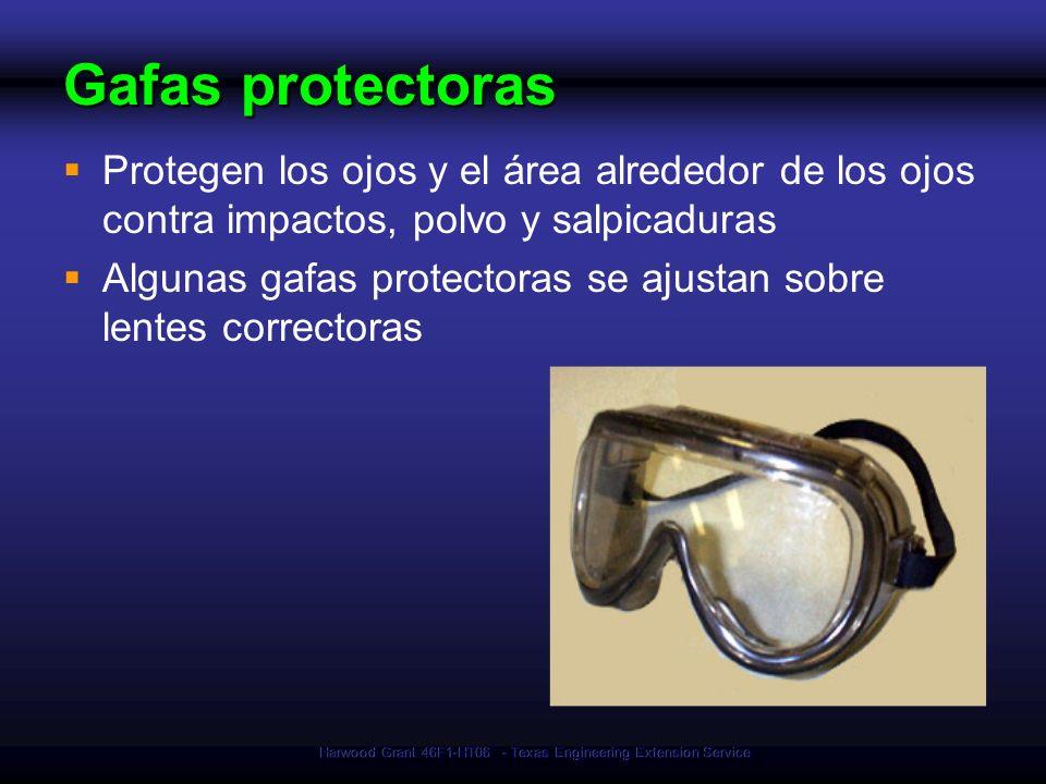 Harwood Grant 46F1-HT06 - Texas Engineering Extension Service Gafas protectoras Protegen los ojos y el área alrededor de los ojos contra impactos, pol