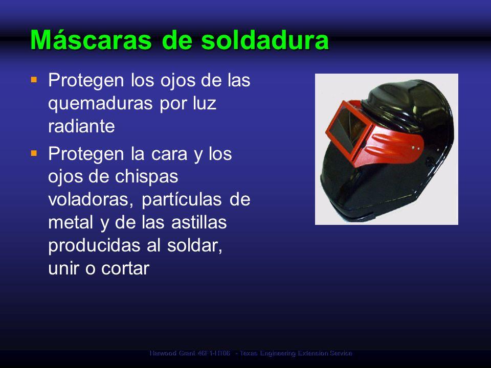 Harwood Grant 46F1-HT06 - Texas Engineering Extension Service Máscaras de soldadura Protegen los ojos de las quemaduras por luz radiante Protegen la c