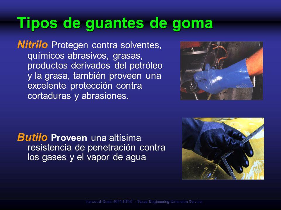 Harwood Grant 46F1-HT06 - Texas Engineering Extension Service Tipos de guantes de goma Nitrilo Protegen contra solventes, químicos abrasivos, grasas,