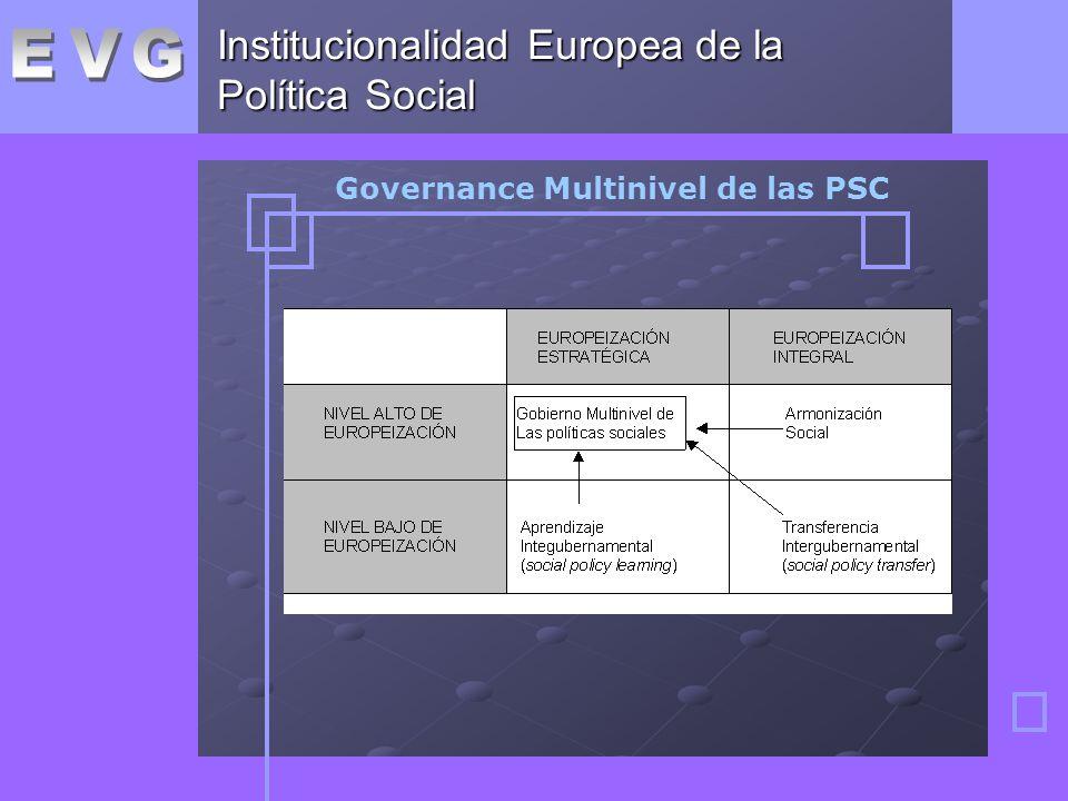Institucionalidad Europea de la Política Social Governance Multinivel de las PSC