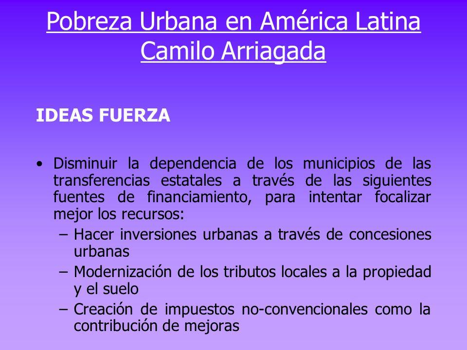 IDEAS FUERZA Disminuir la dependencia de los municipios de las transferencias estatales a través de las siguientes fuentes de financiamiento, para int
