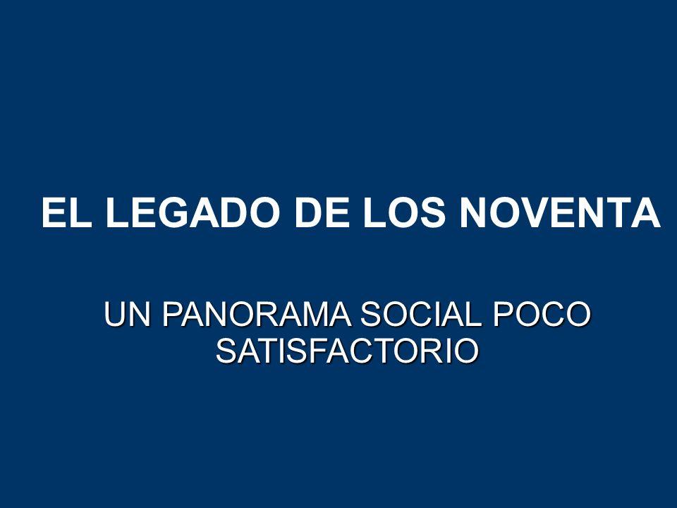 EL LEGADO DE LOS NOVENTA UN PANORAMA SOCIAL POCO SATISFACTORIO