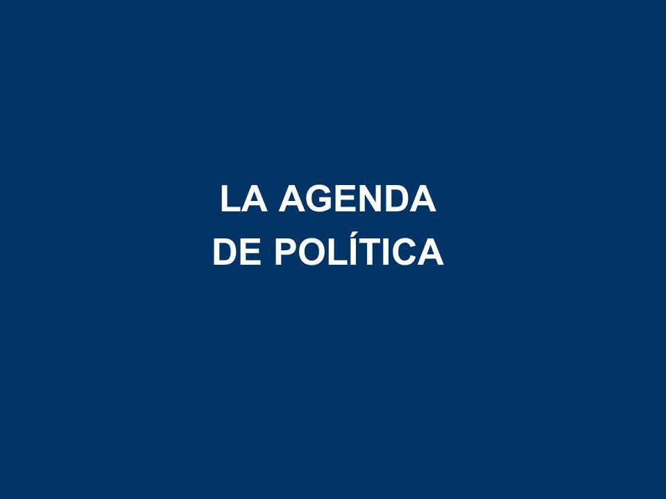 LA AGENDA DE POLÍTICA
