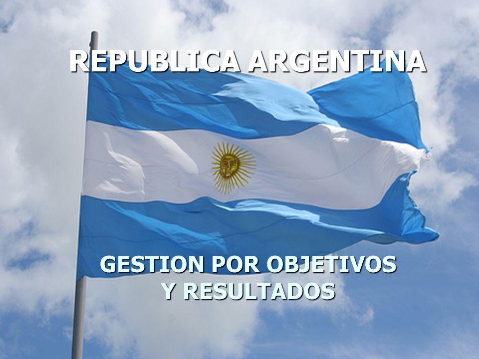 GESTION POR OBJETIVOS Y RESULTADOS REPUBLICA ARGENTINA