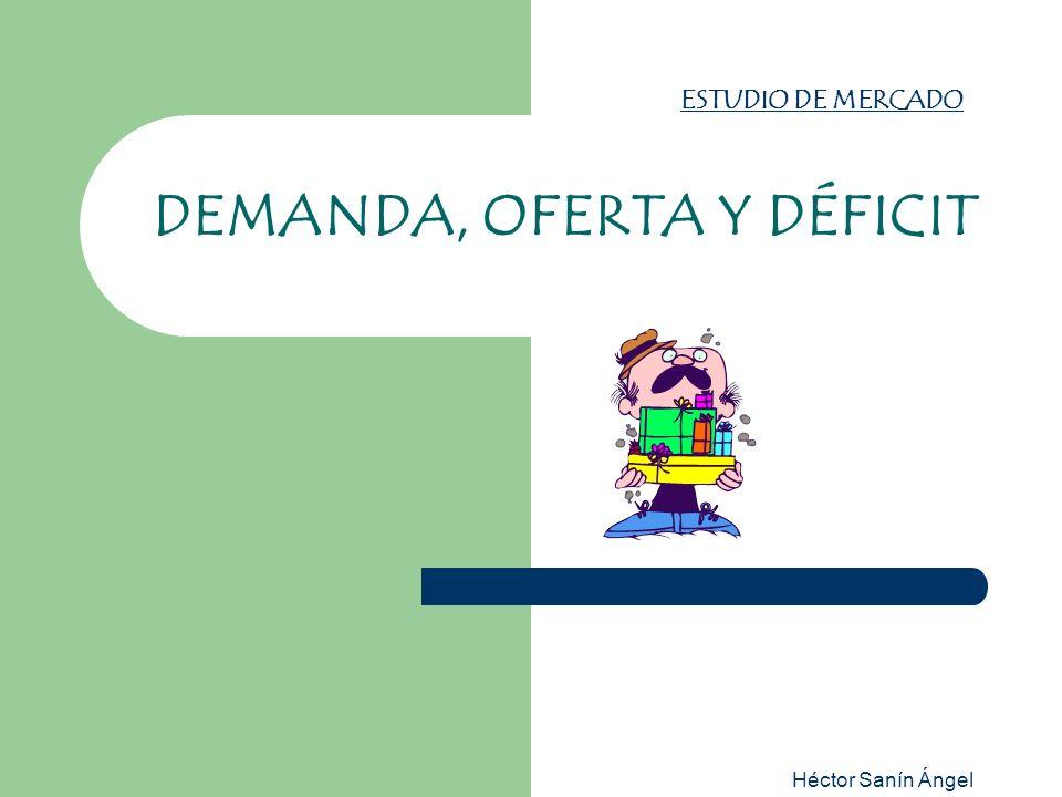 Héctor Sanín Ángel ESTUDIO DE MERCADO DEMANDA, OFERTA Y DÉFICIT