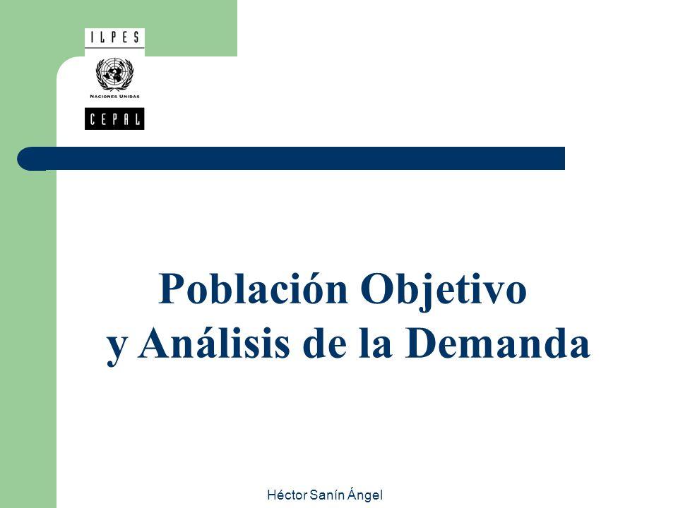 Héctor Sanín Ángel ESTUDIO DE MERCADO POBLACION OBJETIVO