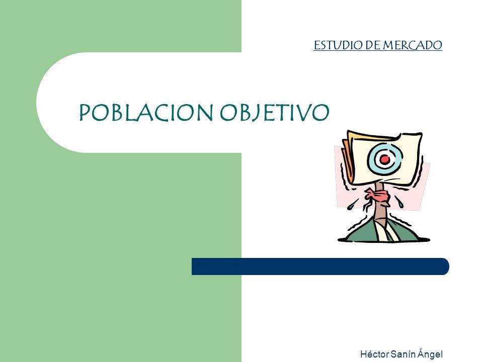 Héctor Sanín Ángel HACIA LA POBLACION OBJETIVO Enfoque social POBLACION DE REFERENCIA POBLACION AFECTADA ó POBLACION CARENTE POBLACION NO AFECTADA POBLACION APLAZADA POBLACION OBJETIVO LA META DEL PROYECTO Gerencial Ltda - Héctor Sanín Angel