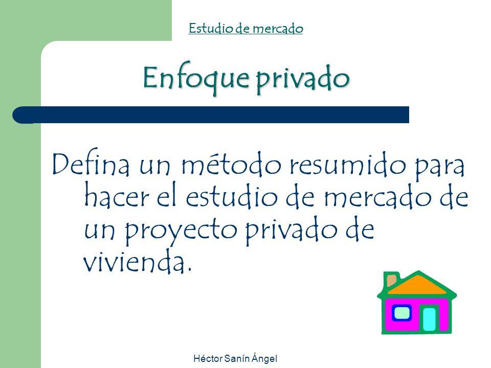Héctor Sanín Ángel Enfoque privado Estudio de mercado Enfoque privado Defina un método resumido para hacer el estudio de mercado de un proyecto privad