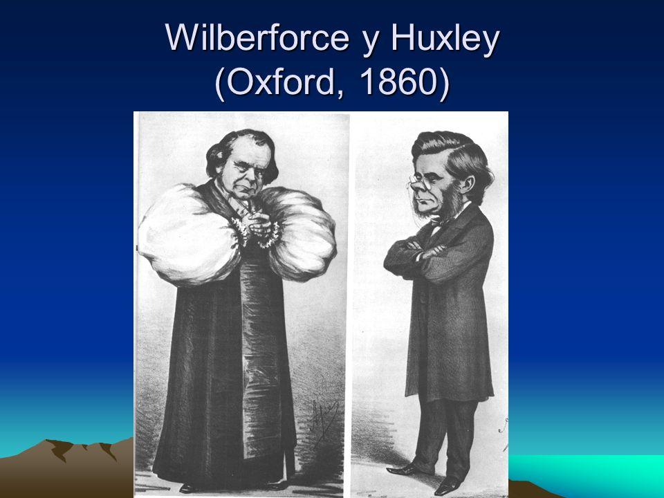 Wilberforce y Huxley (Oxford, 1860)