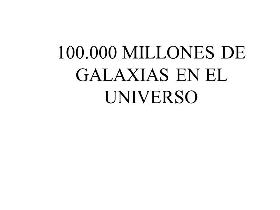 100.000 MILLONES DE GALAXIAS EN EL UNIVERSO