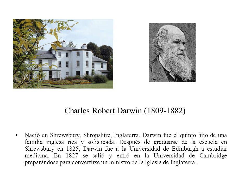 Nació en Shrewsbury, Shropshire, Inglaterra, Darwin fue el quinto hijo de una familia inglesa rica y sofisticada. Después de graduarse de la escuela e