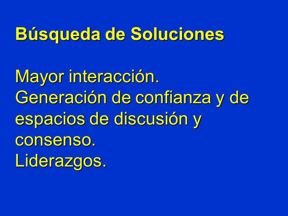 Búsqueda de Soluciones Mayor interacción.