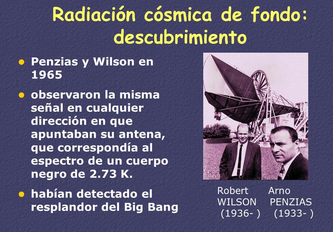 La nucleosíntesis George GAMOW (1904- 1968) Gran Bola de Fuego inicial Al enfriarse se forman átomos (H, He) galaxias, estrellas En el interior de las