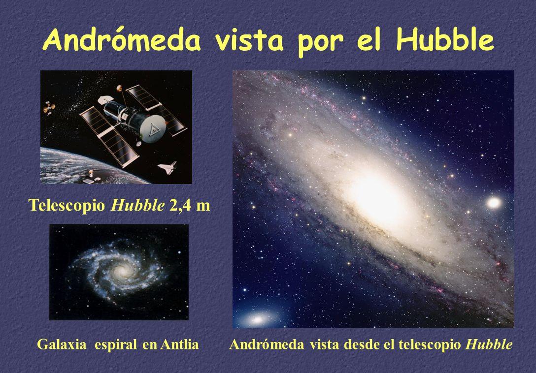 La expansión del Universo Edwin HUBBLE (1889- 1953) Galaxia en Andrómeda La ley de Hubble: v = H 0 D Edad del Universo 1 / H 0 = 13700 Millones de año