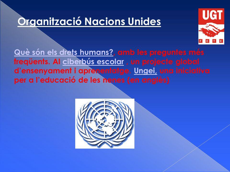Organització Nacions Unides Què són els drets humans Què són els drets humans , amb les preguntes més freqüents.