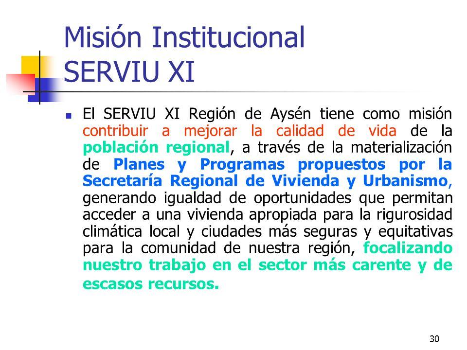 29 Utilidad de una buena declaración de Misión Establecen el marco que justifica la intervención pública en el ámbito de responsabilidad Capacidad de