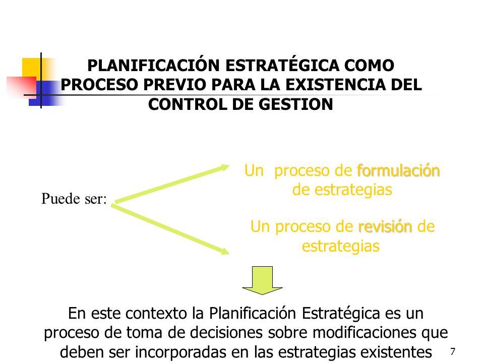 6 Planificación Estratégica en las organizaciones públicas Marco de referencia para la asignación de recursos del presupuesto a los objetivos y metas