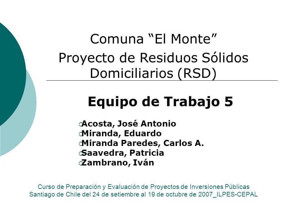 Curso de Preparación y Evaluación de Proyectos de Inversiones Públicas Santiago de Chile del 24 de setiembre al 19 de octubre de 2007_ILPES-CEPAL Equi