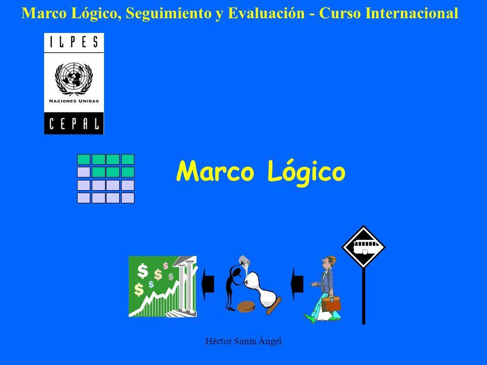 Héctor Sanín Ángel Marco Lógico Marco Lógico, Seguimiento y Evaluación - Curso Internacional