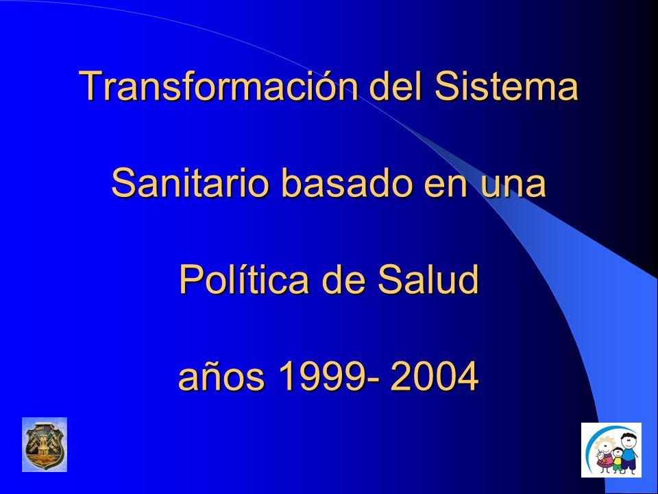Transformación del Sistema Sanitario basado en una Política de Salud años 1999- 2004