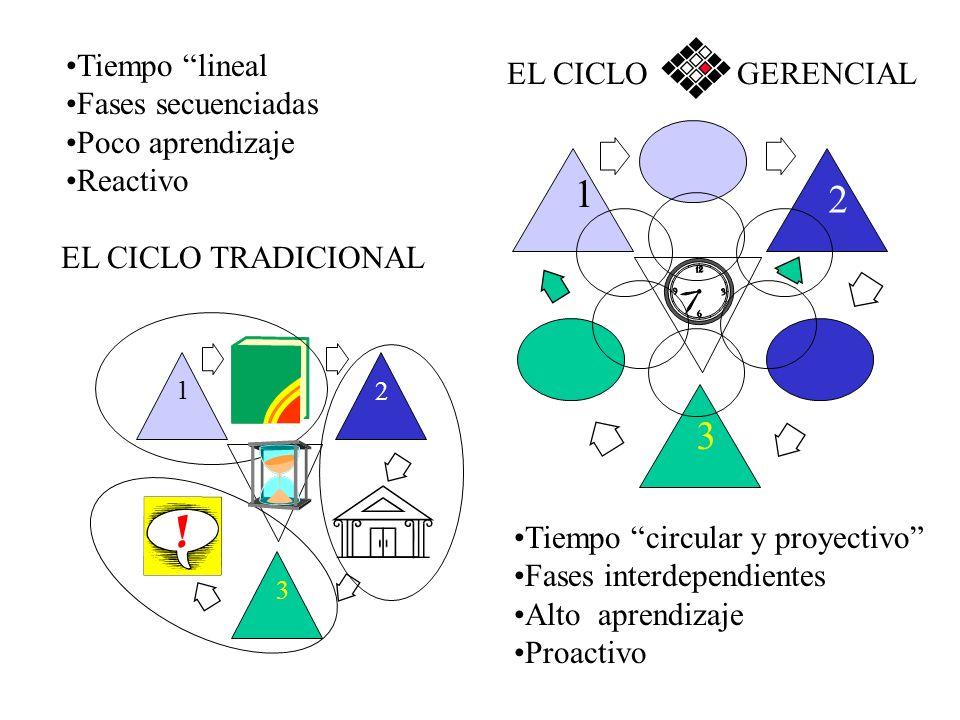 EL CICLO GERENCIAL : TRES FASES TRES RESULTADOS EL CICLO PROACCION FORMULACION PRESENTE GERENCIA PLAN PROYECTOS Y PROCESOS REALIZADOS EJECUCION EVALUA
