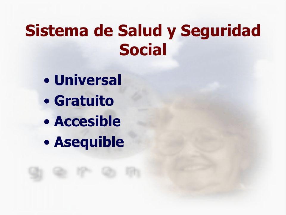 Sistema de Salud y Seguridad Social Universal Gratuito Accesible Asequible
