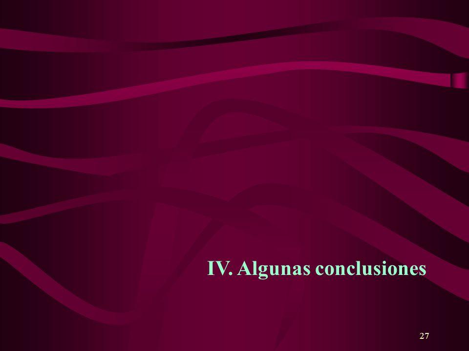 27 IV. Algunas conclusiones